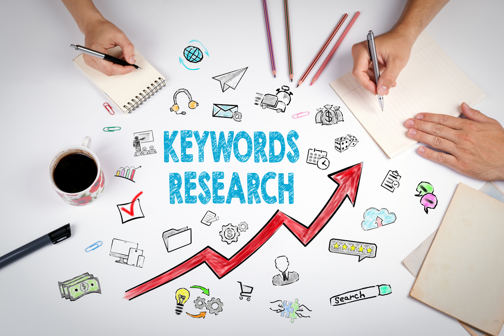 keyword research concept